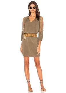 Michael Stars Mesh Mix Dress in Green. - size S (also in M,XS)