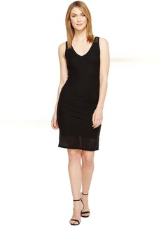 Michael Stars Mesh V-Neck Dress