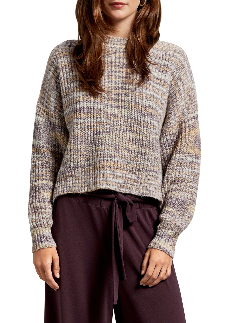 Michael Stars Michelle Alta Shaker Stitch Boxy Crop Cotton Blend Sweater