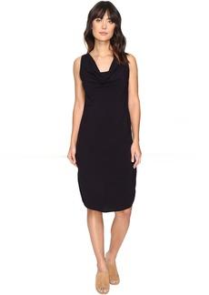 Modern Rayon Draped Dress w/ Back Tie