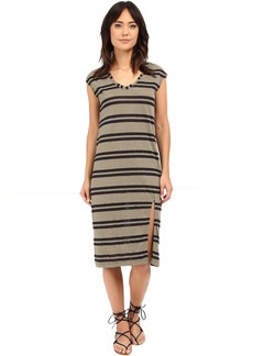Michael Stars Montauk Stripe Midi Dress w/ Slit