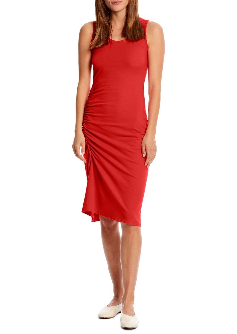 Michael Stars Natalia Ruched Stretch Cotton Tank Dress