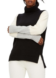 Michael Stars Noel Bristol Colorblock Turtleneck Sweater