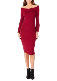 Michael Stars Off the Shoulder Body-Con Dress