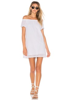 Michael Stars Off The Shoulder Eyelet Dress in White. - size M (also in S,XS)