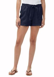 Michael Stars Paulette Linen Paperbag Waist Shorts