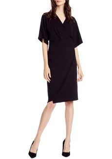 Michael Stars Pebble Knit Pleat Wrap Dress