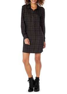 Michael Stars Plaid Henley Shirtdress