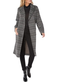 Michael Stars Plaid Ponte Coat