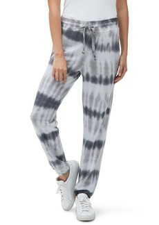 Michael Stars Ray Tie Dye Stripe Relaxed Cotton Blend Joggers