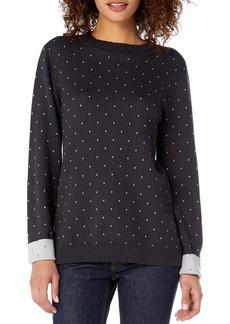 Michael Stars Reversible Dot Cotton Blend Sweater