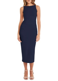 Michael Stars Reversible Stretch Cotton Midi Dress