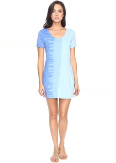 Michael Stars Riverwash Short Sleeve Dress with Back Twist