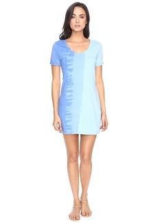 Michael Stars Riverwash Short Sleeve Dress with Back Twist