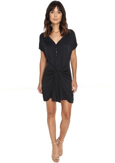 Romy Rayon Henley Tie Waist Dress