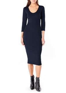 Michael Stars Ruched Midi Dress (Regular & Petite)