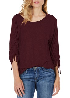 Michael Stars Ruched Sleeve Tee