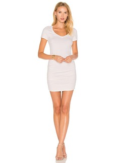 Michael Stars Ruched T Shirt Dress in Cream. - size L (also in XS,S,M)