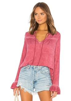 Michael Stars Ruffle Peasant Top