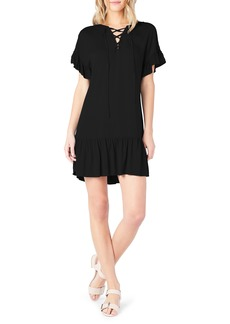 Michael Stars Ruffled Lace-Up Dresss