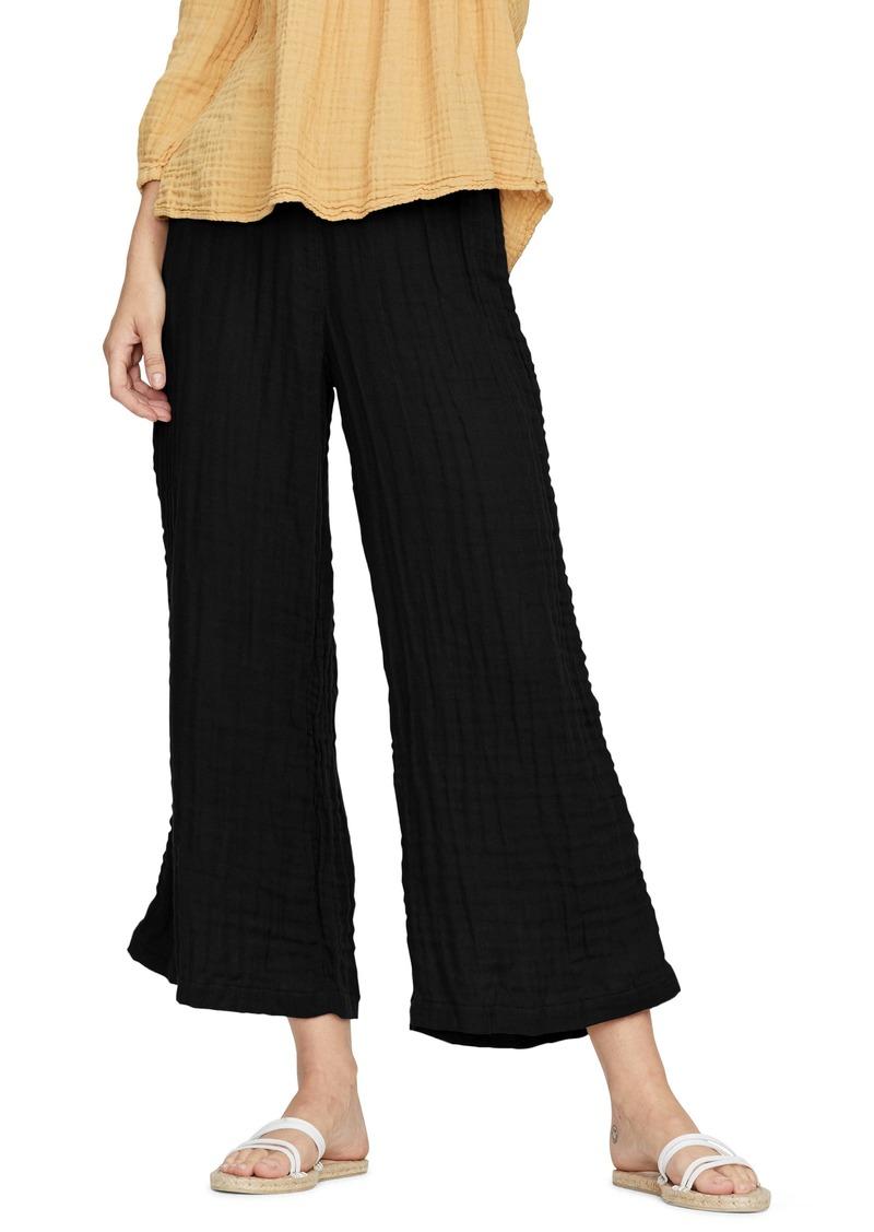 Michael Stars Salma Smock Waist Wide Leg Double Cotton Gauze Pants