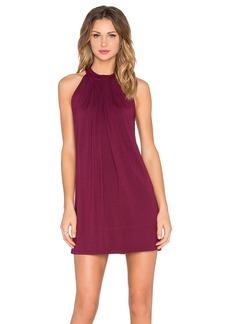 Michael Stars Sasha Sleeveless Draped Halter Dress
