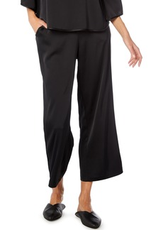 Michael Stars Satin Wide Leg Crop Pants