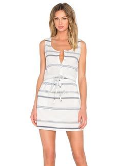 Michael Stars Scoop Neck Drawstring Dress