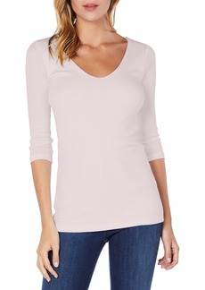 Michael Stars Shine Doubled Front V-Neck Top