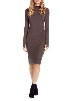 Michael Stars Shirred Mock Neck Dress