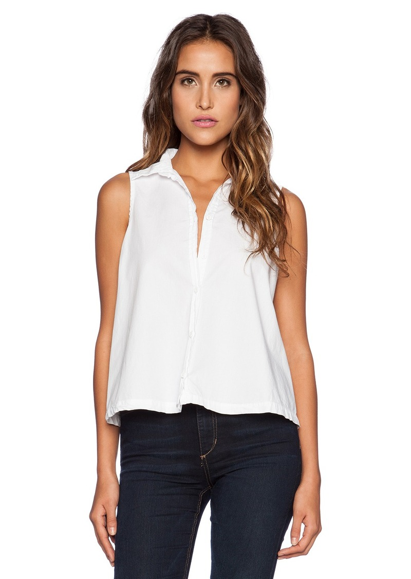 Michael stars michael stars sleeveless button up crop for Michael stars t shirts on sale