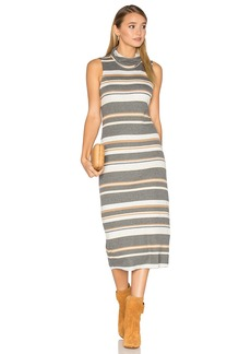 Michael Stars Sleeveless Cowl Neck Midi Dress