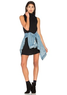 Michael Stars Sleeveless Cowl Shift Dress in Black. - size M (also in S)