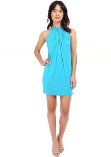 Michael Stars Sleeveless Draped Halter Dress