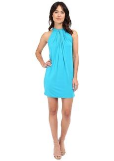 Michael Stars Sleeveless Draped Halter Dress