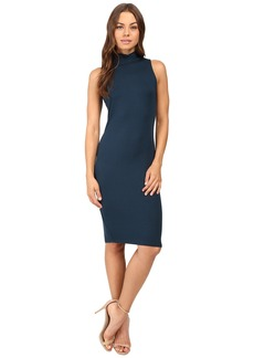 Michael Stars Sleeveless Mock Neck Midi Dress