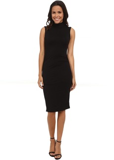 Michael Stars Sleeveless Turtleneck Dress w/ Shirring Detail