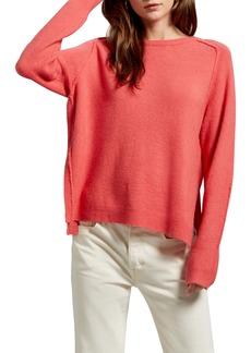 Michael Stars Solana Exposed Seam Crewneck Sweater