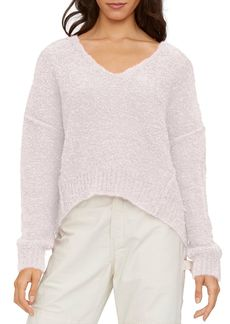 Michael Stars Stacy High/Low Boucl� Sweater