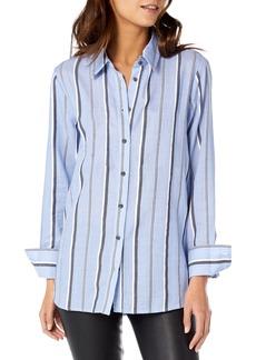 Michael Stars Stripe Button-Up Cotton Blouse