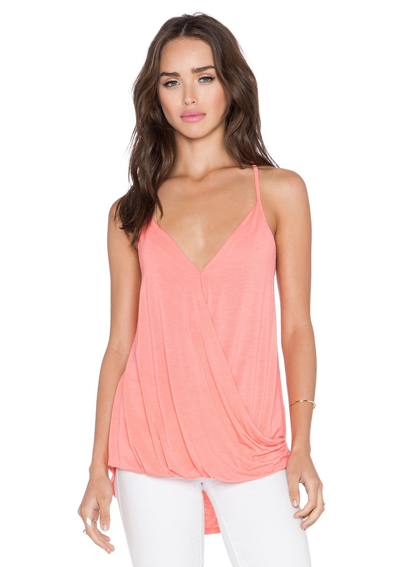 Michael stars michael stars surplice cross back cami now for Michael stars t shirts on sale