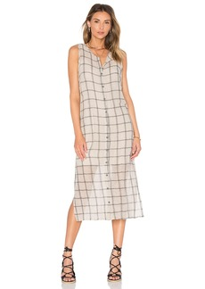 Michael Stars Tank Button Down Midi Dress