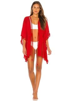 Michael Stars Tassels For All Ruana Cover Up