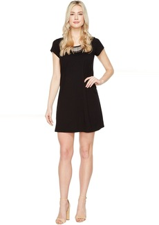 Michael Stars Tee Dress w/ Crochet Trim
