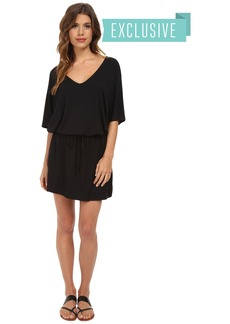 Michael Stars V-Neck Dress w/ Drawstring