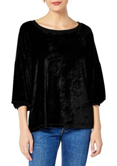 Michael Stars Vali Velvet Balloon Sleeve Convertible Top