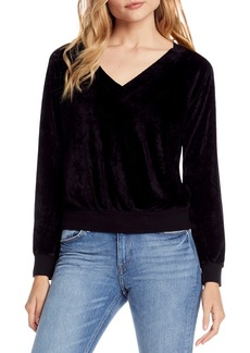 Michael Stars Velvet V-Neck Top