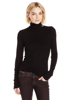 Michael Stars Women's 2X1 Rib Long Sleeve Turtleneck  One Size