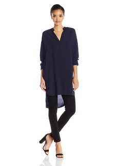Michael Stars Women's 3/4 Sleeve Split Neck Tunic  M