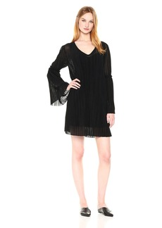 Michael Stars Women's Accordion Bell Sleeve Shift Dress  M